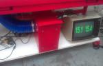 Raspberry Pi powered ascii laser temperature monitor