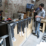 Drying unrolled batteries