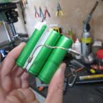 Inside a laptop battery