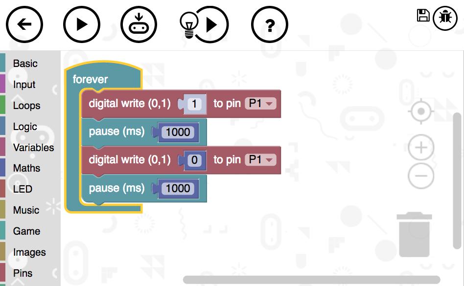 micro:bit block editor