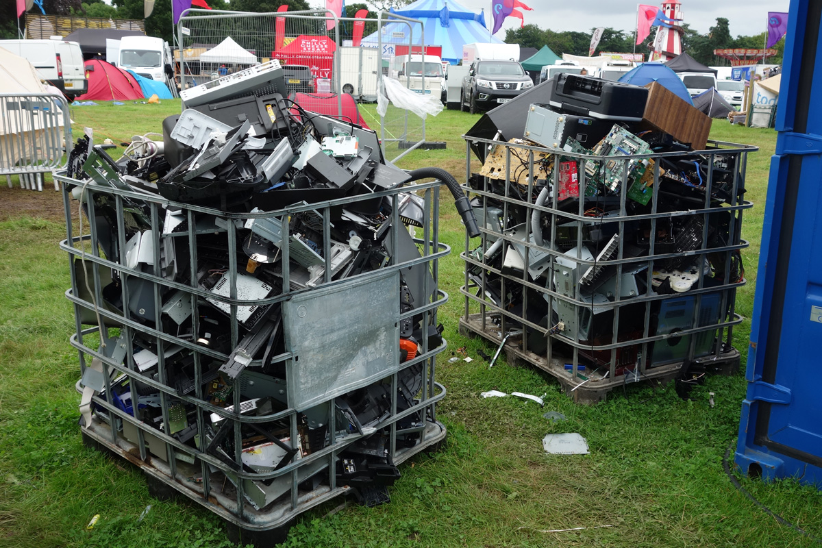 Wrekshop leftovers ready to go back to recycling facilities