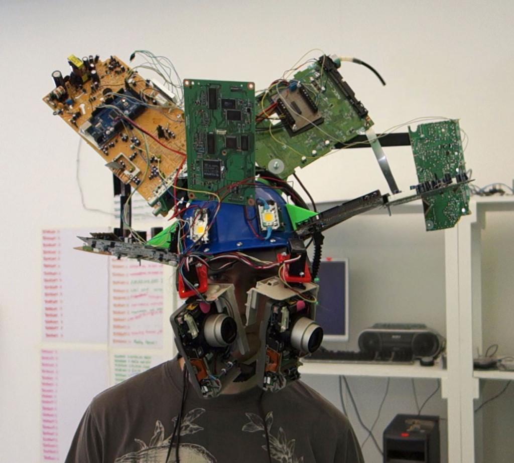 Bobby wearing Tech Head